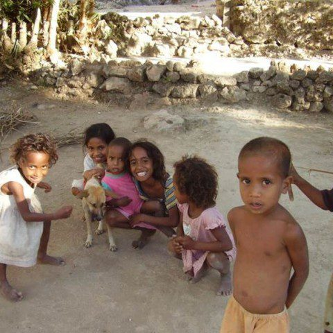 Young children in Timor Leste.