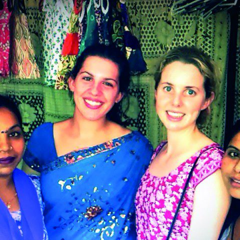 MWIA volunteer Liz Pattison and Siobhan Stagg in Darjeeling, India.