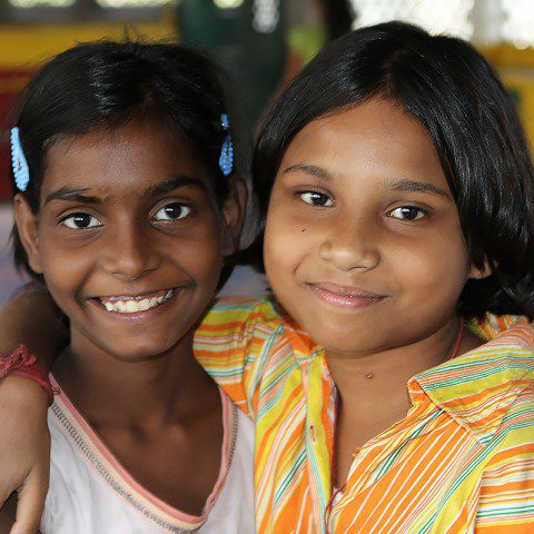 Young students in Kolkata, India who are a part of the 'Rainbow Program' at Loreto Sealdah.