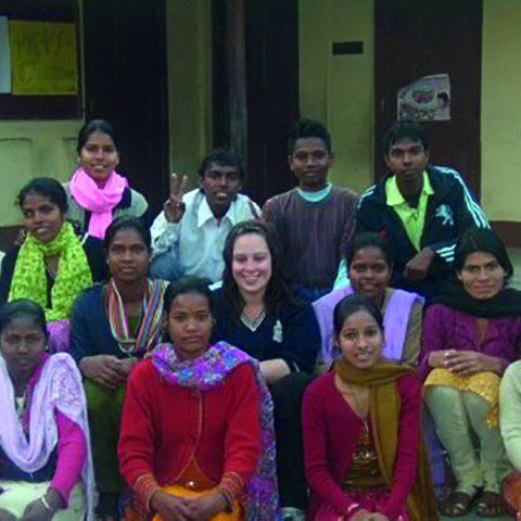 MWIA volunteer Maddie Schultz in Darjeeling, India. Maddie taught English to local children and developed a supportive youth group.