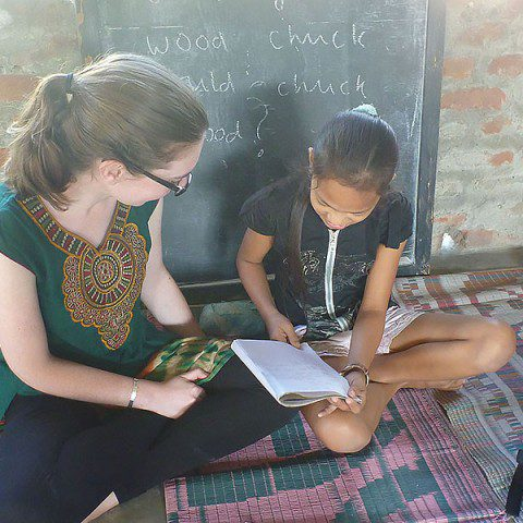 MWIA volunteer Esther McMahon in India.