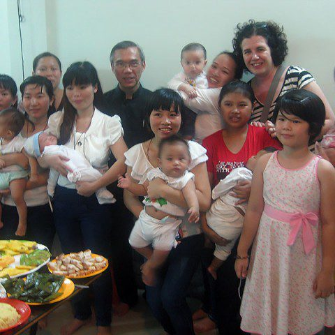 MWIA volunteer Michelle McCarty in Vietnam.