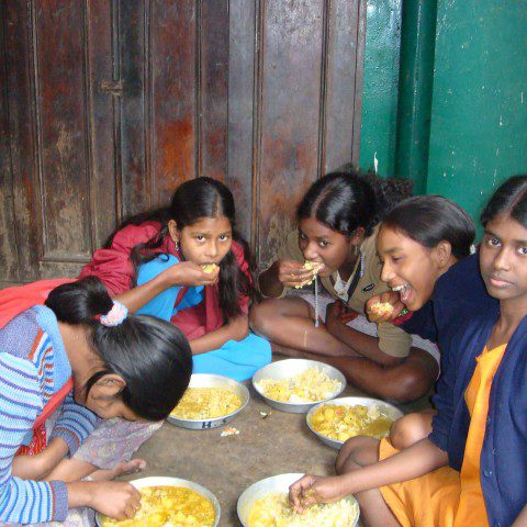 Young children who are members of the 'Rainbow Program' in Kolkata, India.