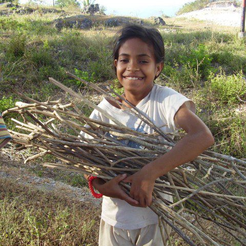 A young child in Timor Leste.