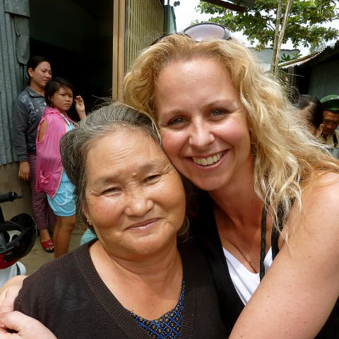 Donor Sue McGregor who has helped to support the Tan Phu Women's Shelter in Vietnam.