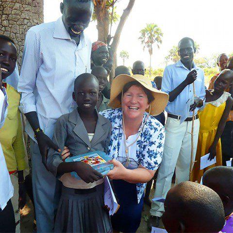 Sr Kathleen MacLennan ibvm at a primary school in Rumbek, South Sudan.