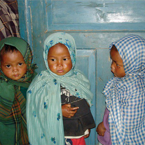 Children in Darjeeling, India who have received assistance from the Loreto Panighatta School which MWIA supports.