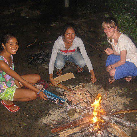 MWIA volunteer Danielle Forbes in Timor Leste.