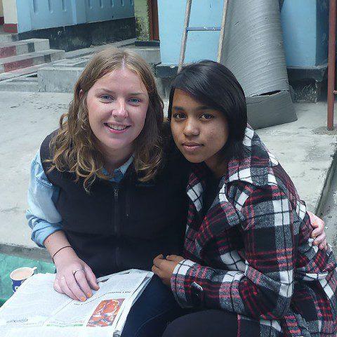 MWIA volunteer Eloise Glenane in Nepal.