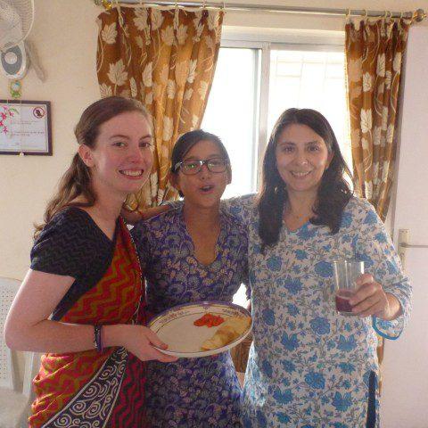 MWIA volunteer Esther McMahon working in Darjeeling, India.